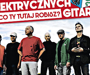 Sanok Days. Poster annoucing performance of the 'Elektryczne Gitary' band.